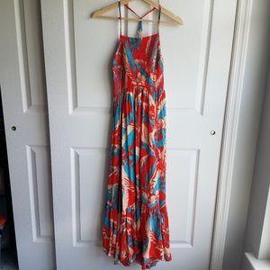 Free People Red Heat Wave Maxi Dress Size Medium
